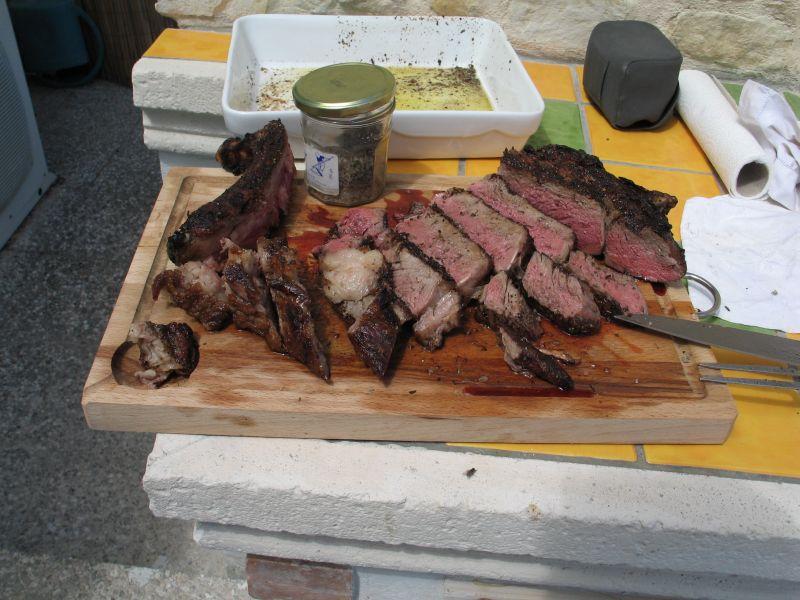 C te de boeuf au barbecue - Cote de boeuf weber ...